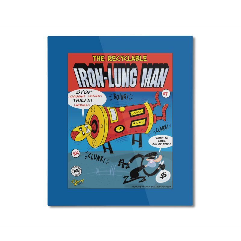 Iron-Lung Man Home Mounted Aluminum Print by righthemispherelaboratory's Shop