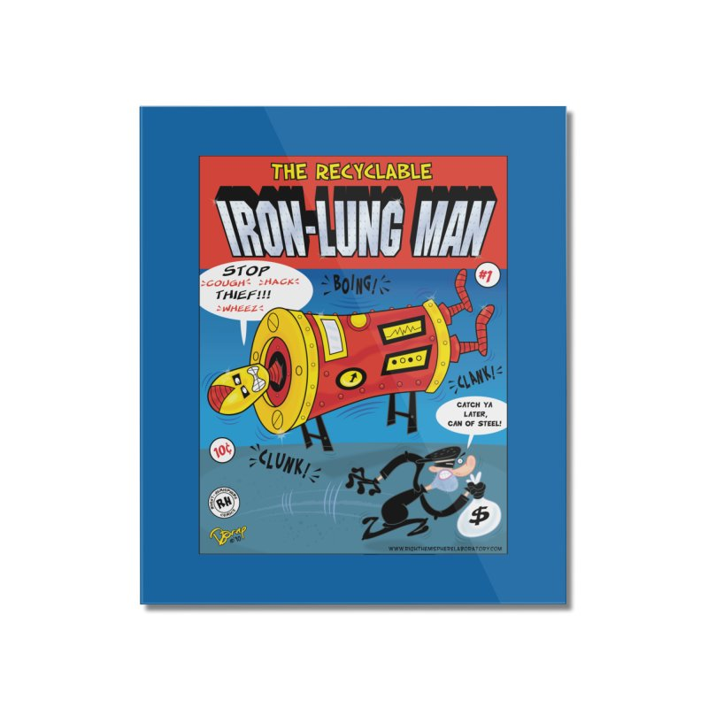 Iron-Lung Man Home Mounted Acrylic Print by righthemispherelaboratory's Shop