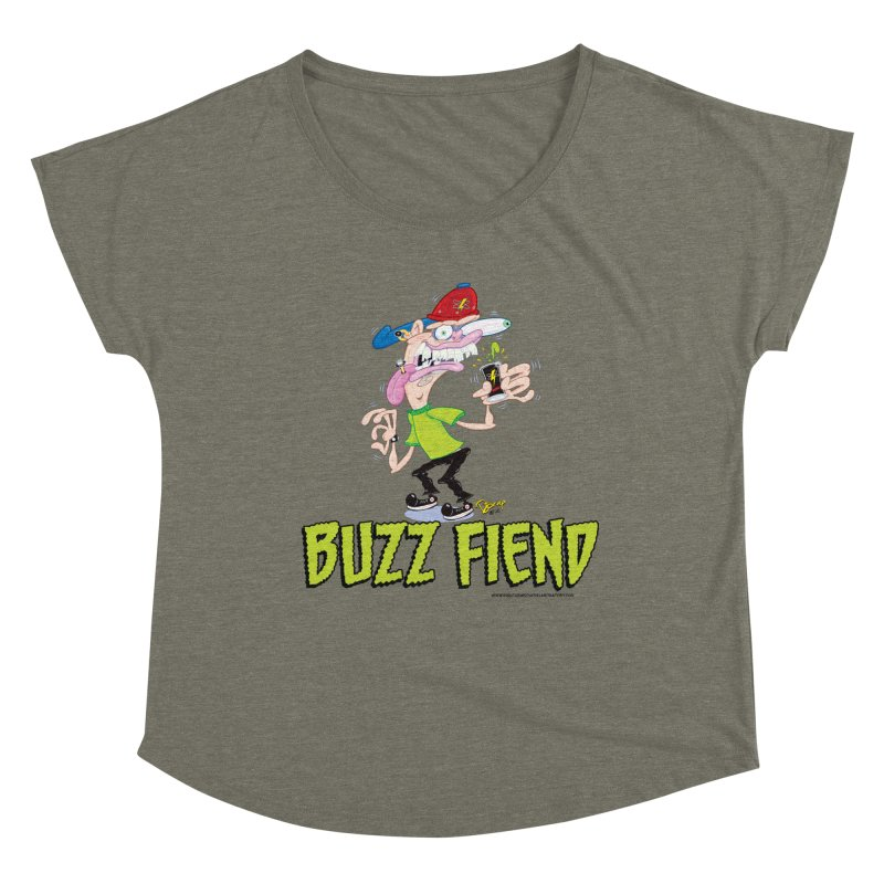 Buzz Fiend Women's Scoop Neck by righthemispherelaboratory's Shop