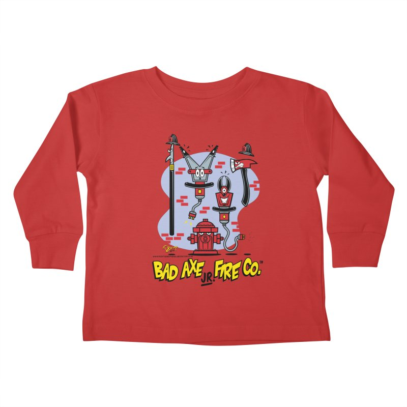 Bad Axe Jr. Kids Toddler Longsleeve T-Shirt by righthemispherelaboratory's Shop