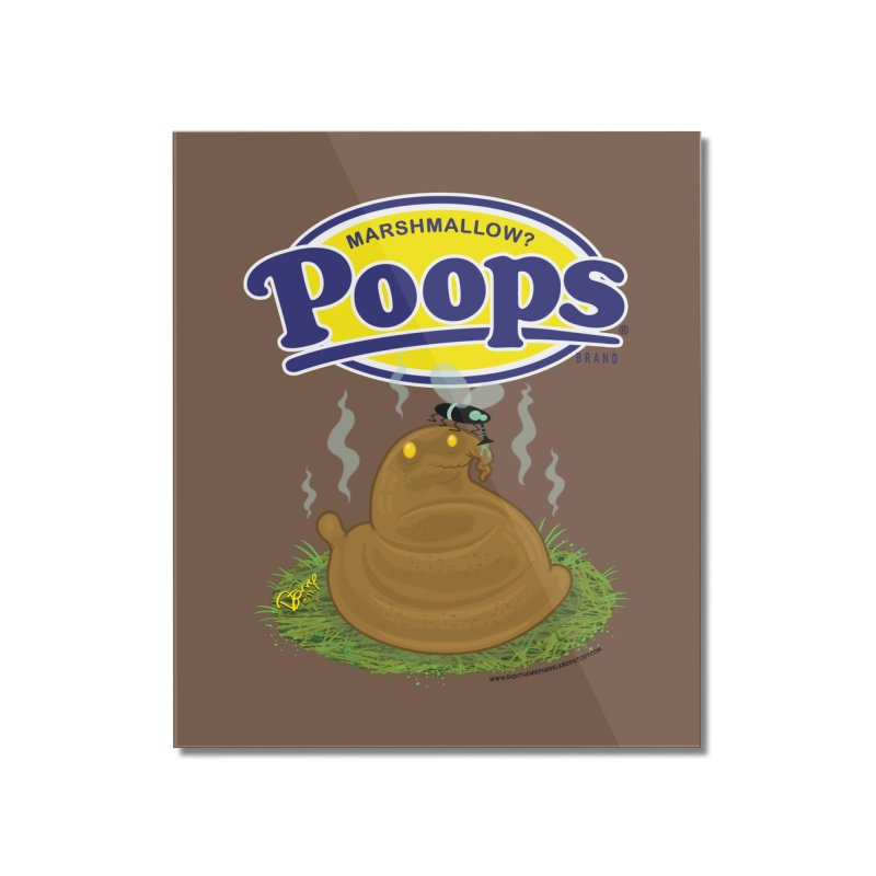 Marshmallow Poops Home Mounted Acrylic Print by righthemispherelaboratory's Shop