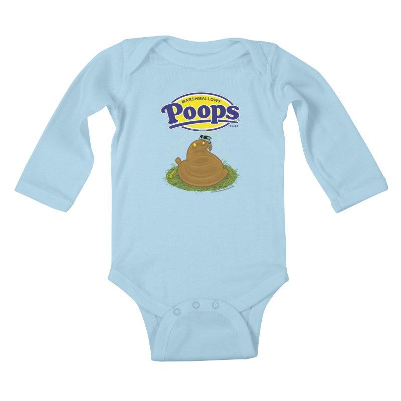 Marshmallow Poops Kids Baby Longsleeve Bodysuit by righthemispherelaboratory's Shop