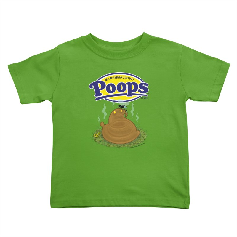 Marshmallow Poops Kids Toddler T-Shirt by righthemispherelaboratory's Shop