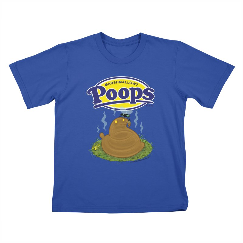 Marshmallow Poops Kids T-Shirt by righthemispherelaboratory's Shop