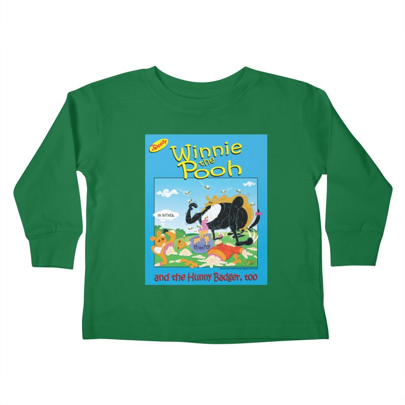 Winnie the Pooh and Hunny Badger, Too Kids Toddler Longsleeve T-Shirt by righthemispherelaboratory's Shop
