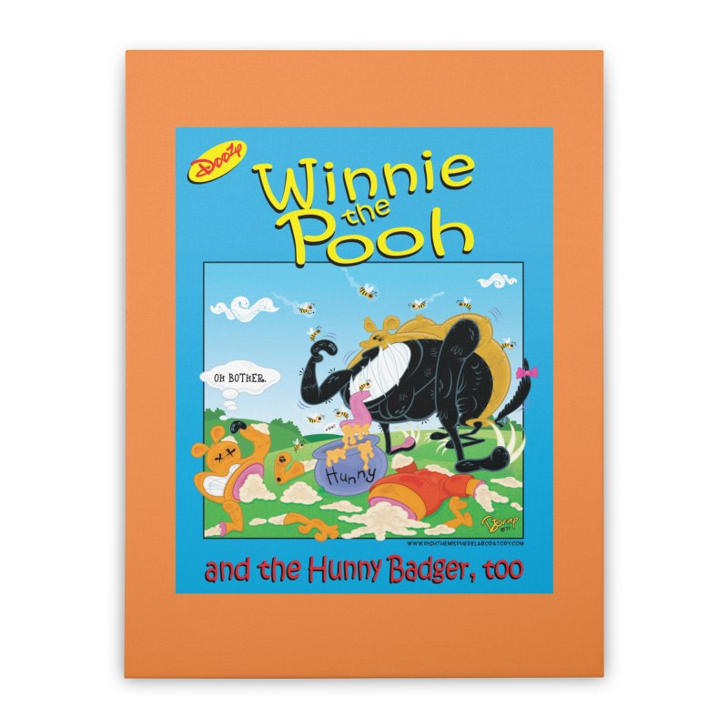 Winnie the Pooh and Hunny Badger, Too Home Duvet by righthemispherelaboratory's Shop