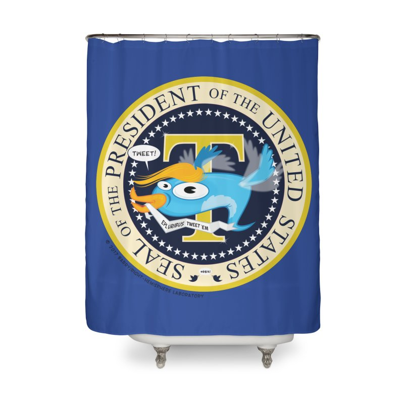 Trump POTUS Seal Home Shower Curtain by righthemispherelaboratory's Shop