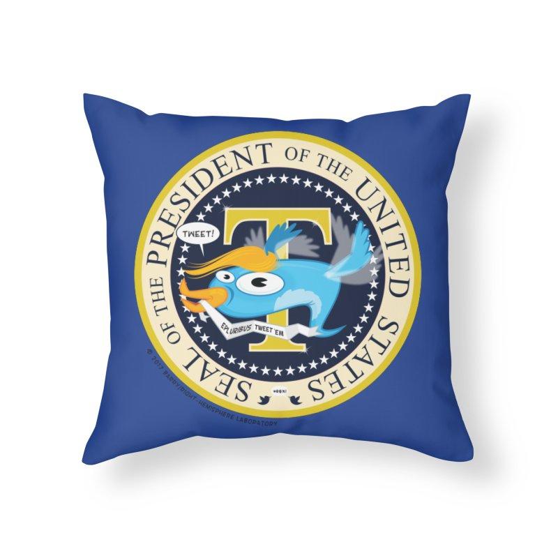 Trump POTUS Seal Home Throw Pillow by righthemispherelaboratory's Shop