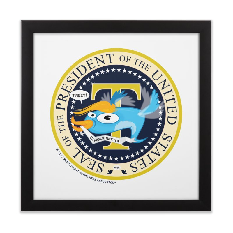 Trump POTUS Seal Home Framed Fine Art Print by righthemispherelaboratory's Shop