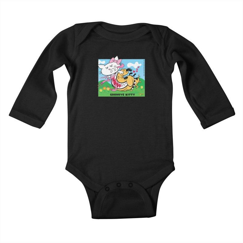 Goodbye Kitty Kids Baby Longsleeve Bodysuit by righthemispherelaboratory's Shop