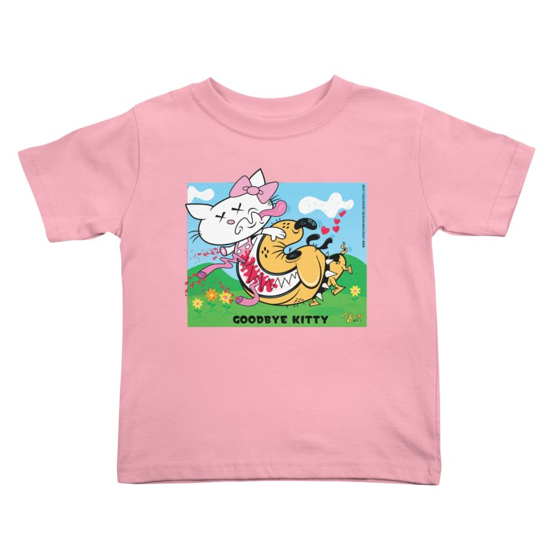 Goodbye Kitty Kids Toddler T-Shirt by righthemispherelaboratory's Shop
