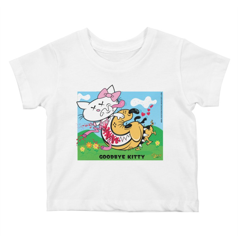 Goodbye Kitty Kids Baby T-Shirt by righthemispherelaboratory's Shop