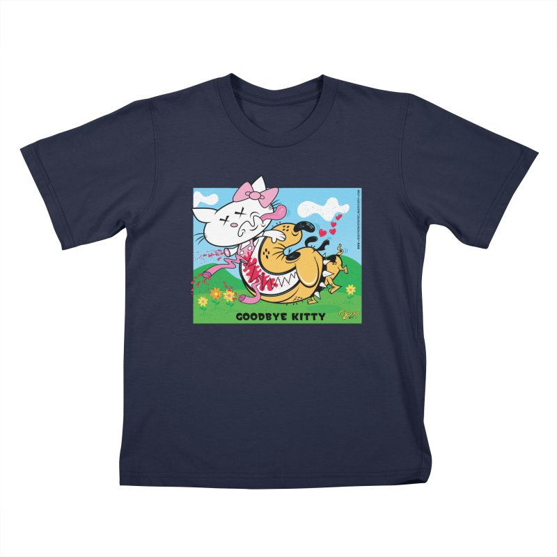 Goodbye Kitty Kids T-Shirt by righthemispherelaboratory's Shop