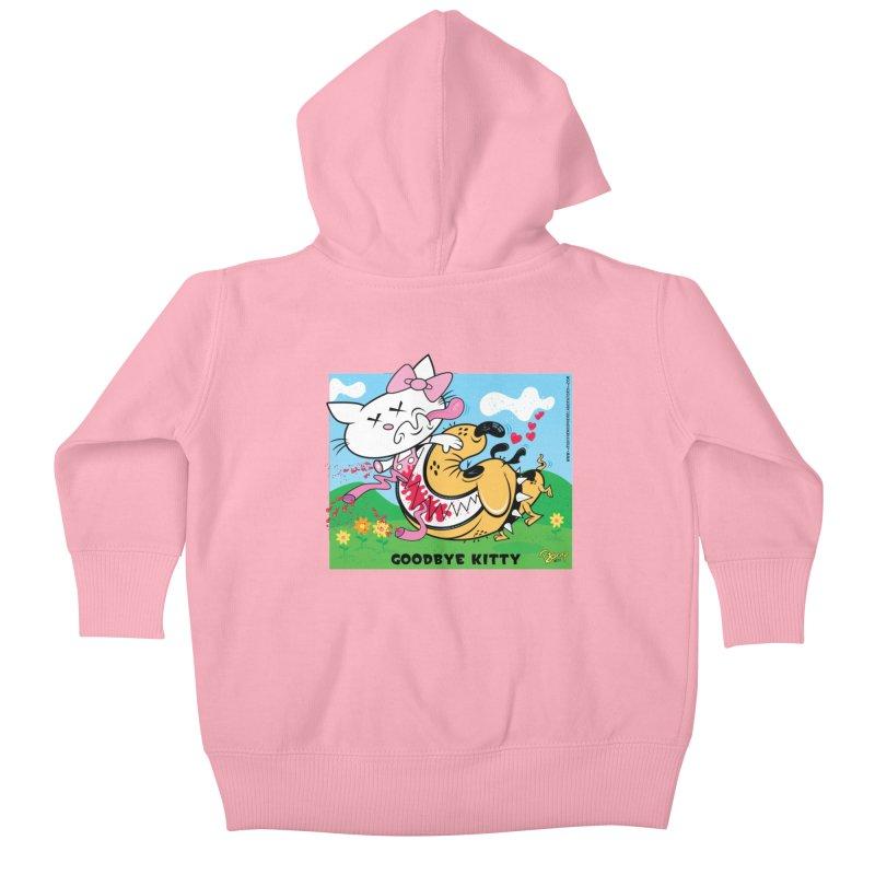 Goodbye Kitty Kids Baby Zip-Up Hoody by righthemispherelaboratory's Shop