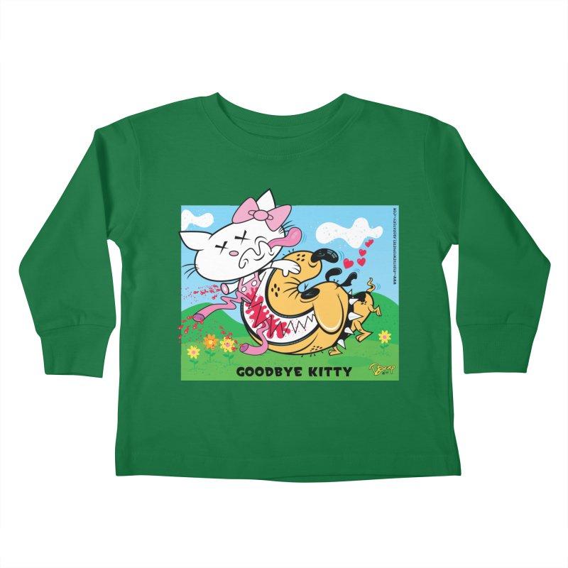 Goodbye Kitty Kids Toddler Longsleeve T-Shirt by righthemispherelaboratory's Shop