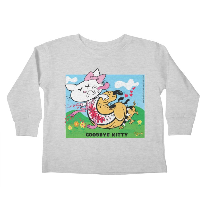 Goodbye Kitty Kids Toddler Longsleeve T-Shirt by righthemispherelaboratory's Shop