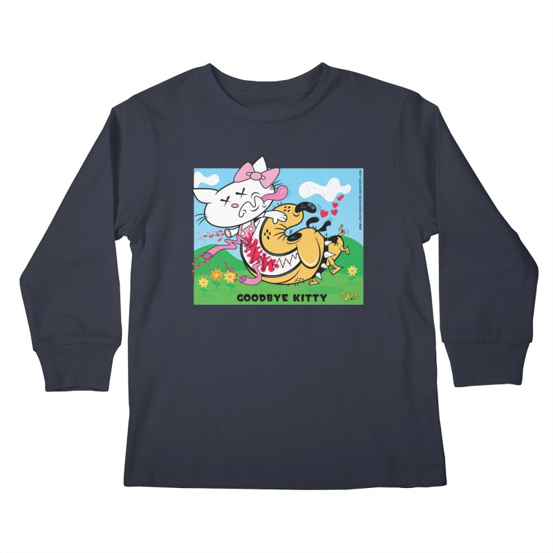 Goodbye Kitty Kids Longsleeve T-Shirt by righthemispherelaboratory's Shop