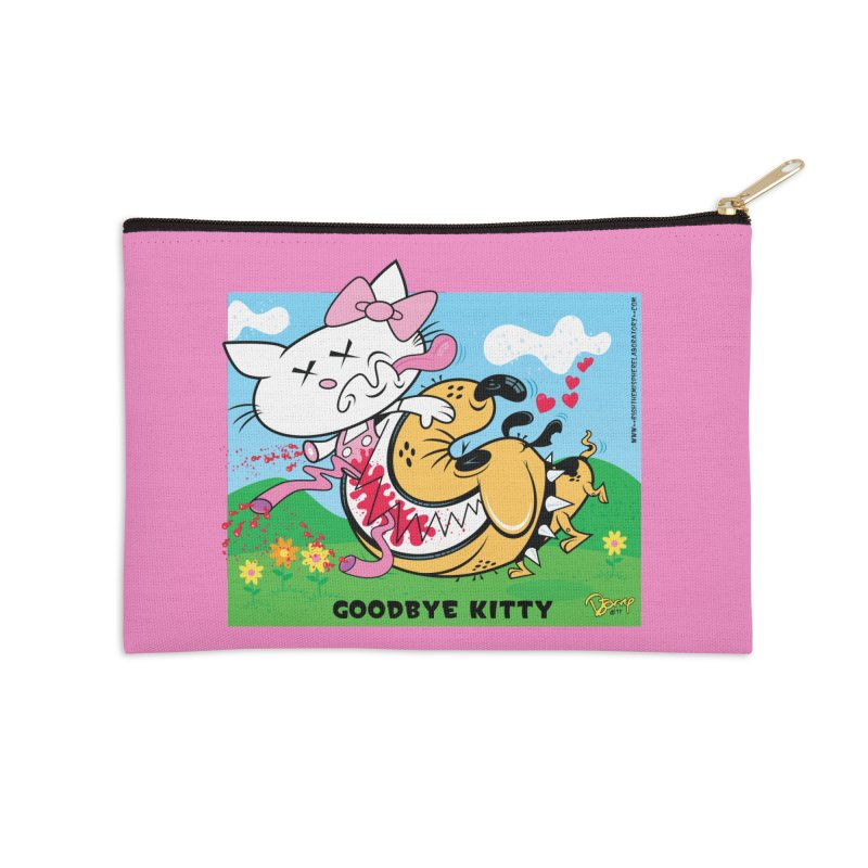 Goodbye Kitty Accessories Zip Pouch by righthemispherelaboratory's Shop