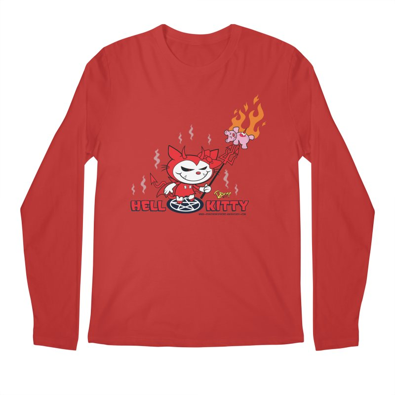 Hell Kitty Men's Regular Longsleeve T-Shirt by righthemispherelaboratory's Shop