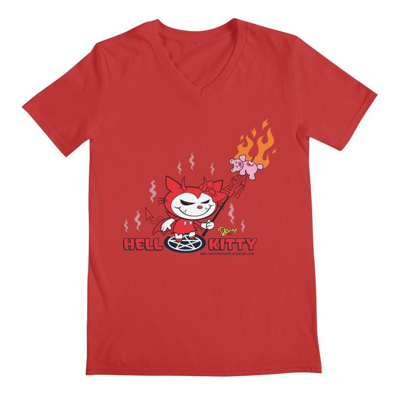 Hell Kitty Men's Regular V-Neck by righthemispherelaboratory's Shop