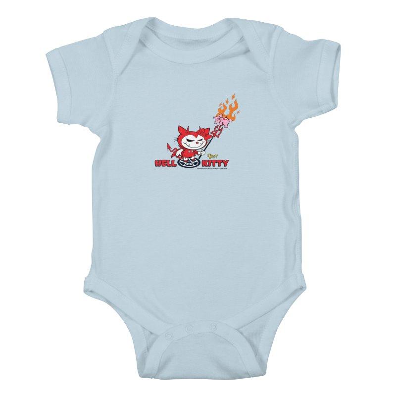 Hell Kitty Kids Baby Bodysuit by righthemispherelaboratory's Shop