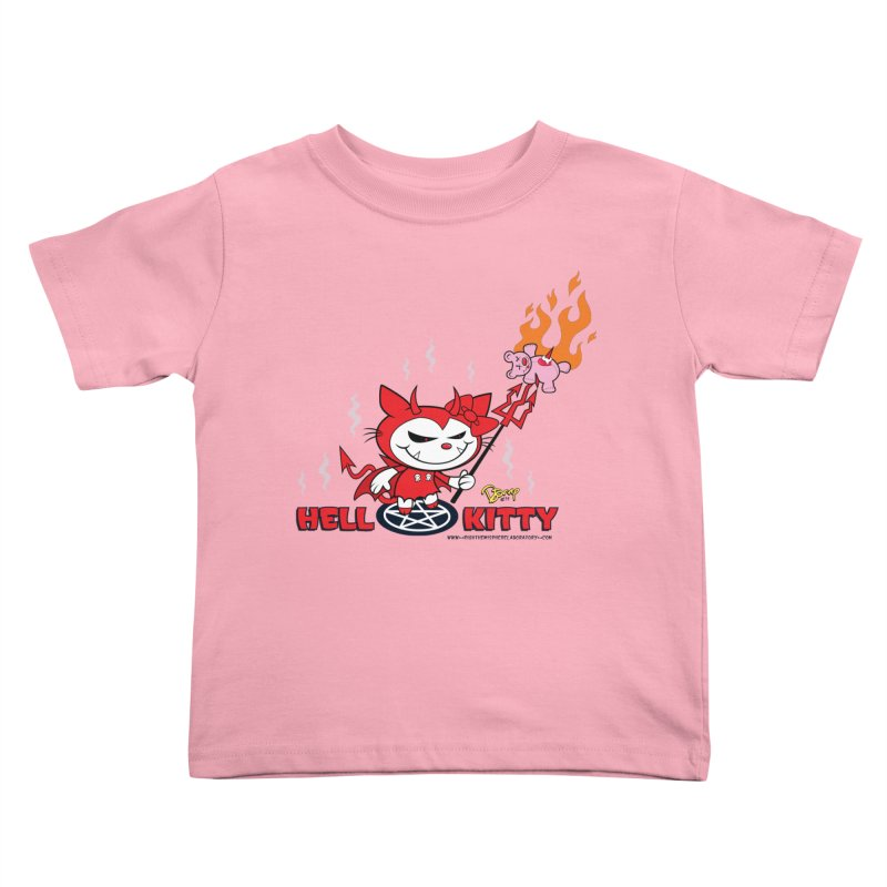 Hell Kitty Kids Toddler T-Shirt by righthemispherelaboratory's Shop
