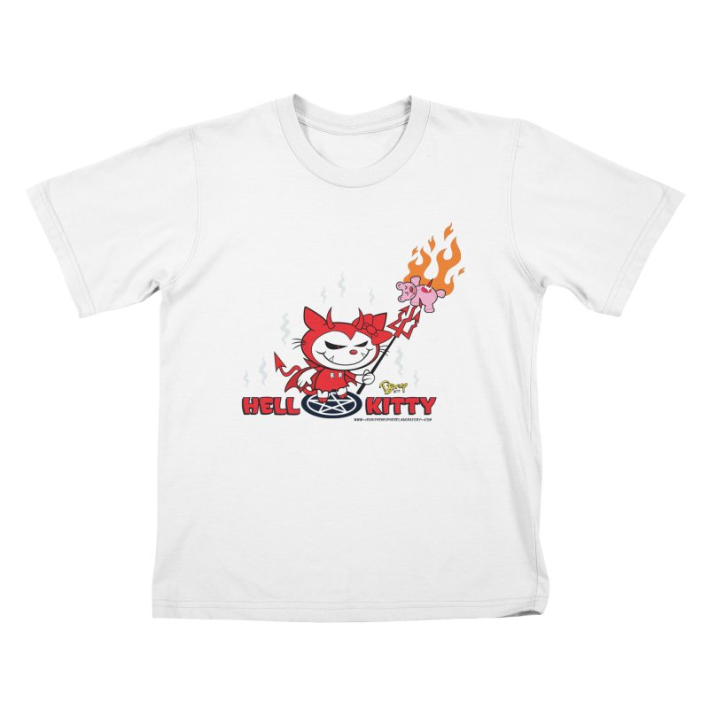 Hell Kitty Kids T-Shirt by righthemispherelaboratory's Shop