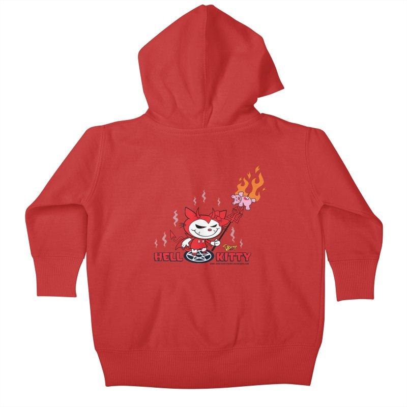 Hell Kitty Kids Baby Zip-Up Hoody by righthemispherelaboratory's Shop