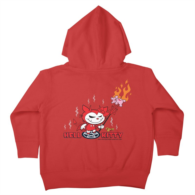 Hell Kitty Kids Toddler Zip-Up Hoody by righthemispherelaboratory's Shop