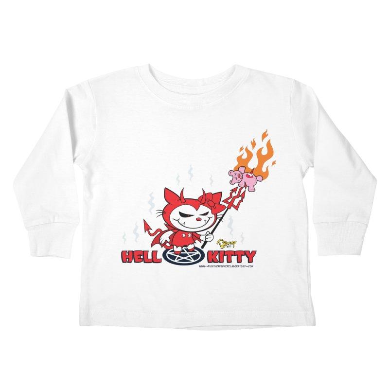 Hell Kitty Kids Toddler Longsleeve T-Shirt by righthemispherelaboratory's Shop
