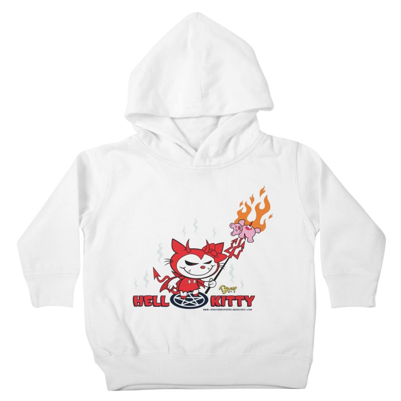 Hell Kitty Kids Toddler Pullover Hoody by righthemispherelaboratory's Shop