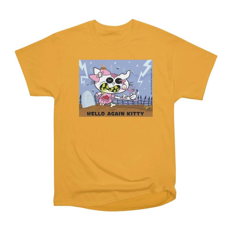 Hello Again Kitty Women's Heavyweight Unisex T-Shirt by righthemispherelaboratory's Shop
