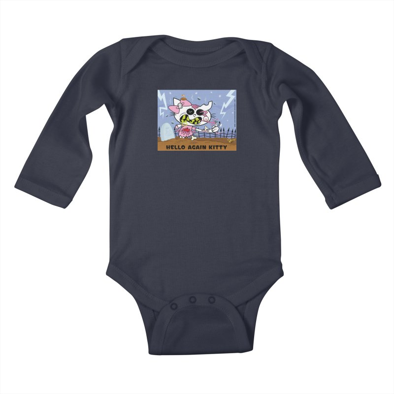Hello Again Kitty Kids Baby Longsleeve Bodysuit by righthemispherelaboratory's Shop
