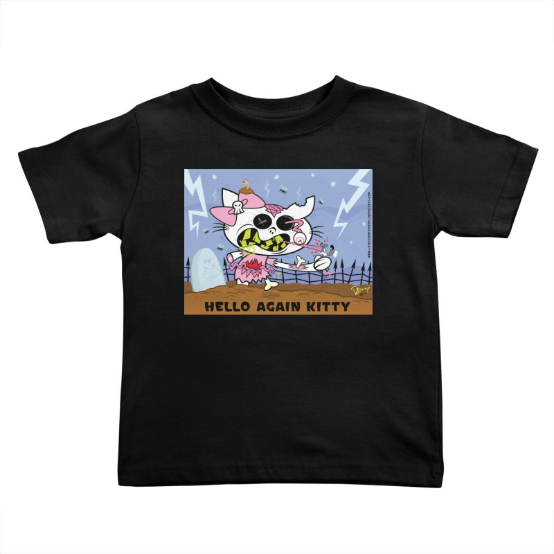 Hello Again Kitty Kids Toddler T-Shirt by righthemispherelaboratory's Shop