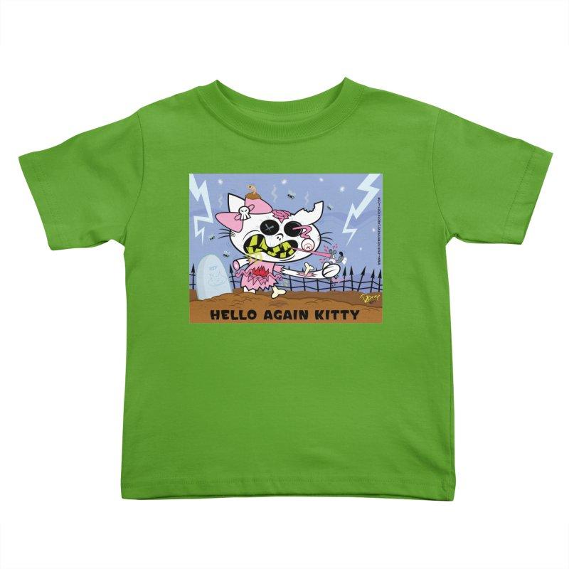 Hello Again Kitty Kids Toddler T-Shirt by righthemispherelaboratory's Shop