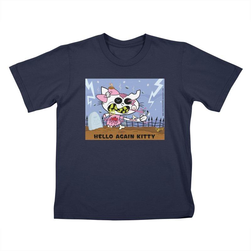 Hello Again Kitty Kids T-Shirt by righthemispherelaboratory's Shop