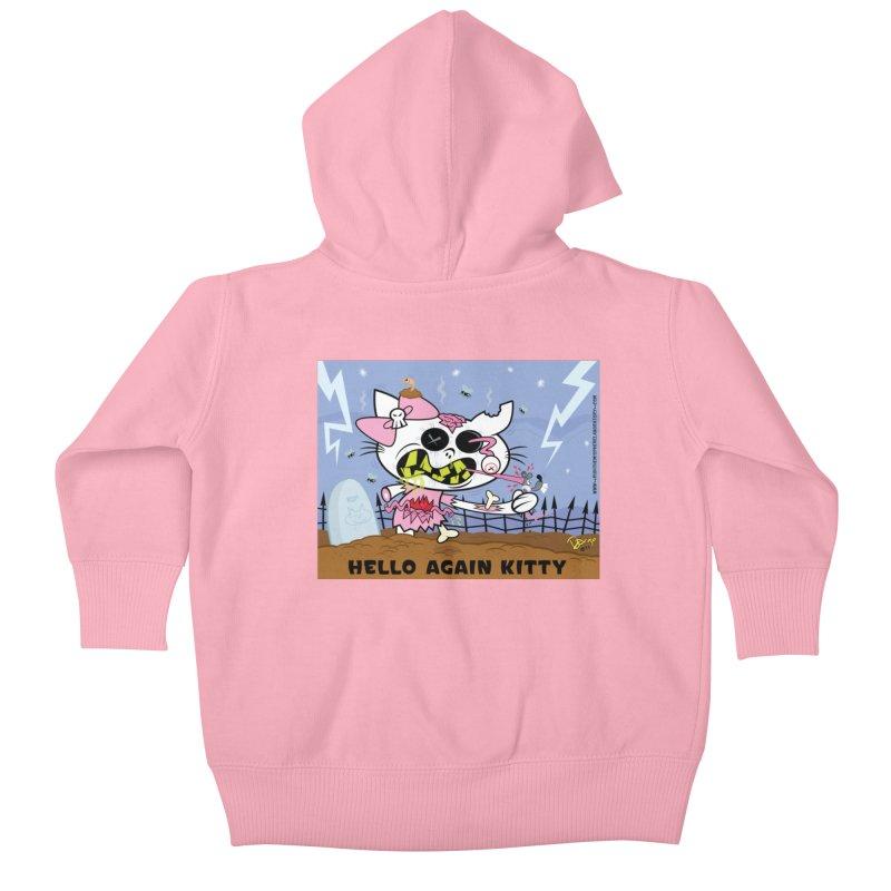 Hello Again Kitty Kids Baby Zip-Up Hoody by righthemispherelaboratory's Shop