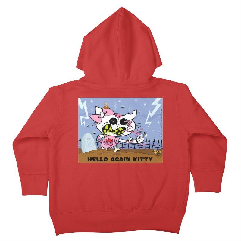 Hello Again Kitty Kids Toddler Zip-Up Hoody by righthemispherelaboratory's Shop