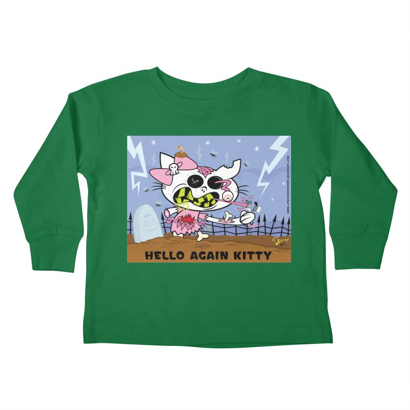 Hello Again Kitty Kids Toddler Longsleeve T-Shirt by righthemispherelaboratory's Shop