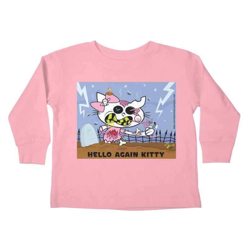Hello Again Kitty Kids Toddler Longsleeve T-Shirt by righthemispherelaboratory's Shop