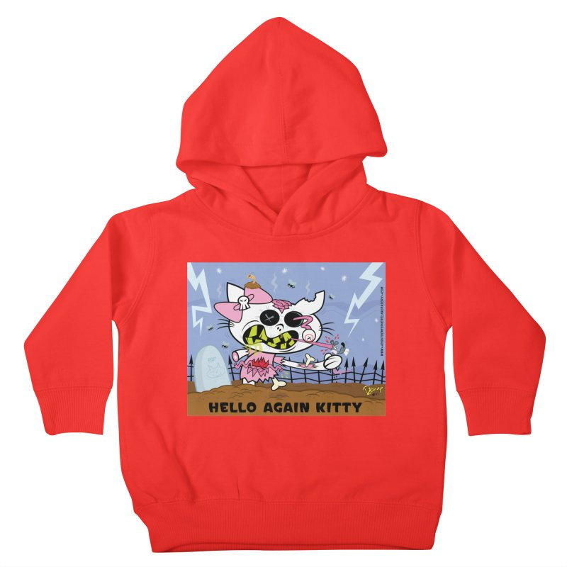 Hello Again Kitty Kids Toddler Pullover Hoody by righthemispherelaboratory's Shop