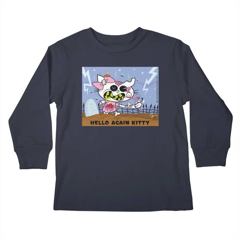 Hello Again Kitty Kids Longsleeve T-Shirt by righthemispherelaboratory's Shop