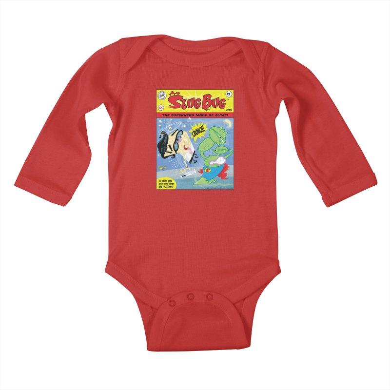 SlugBug Kids Baby Longsleeve Bodysuit by righthemispherelaboratory's Shop