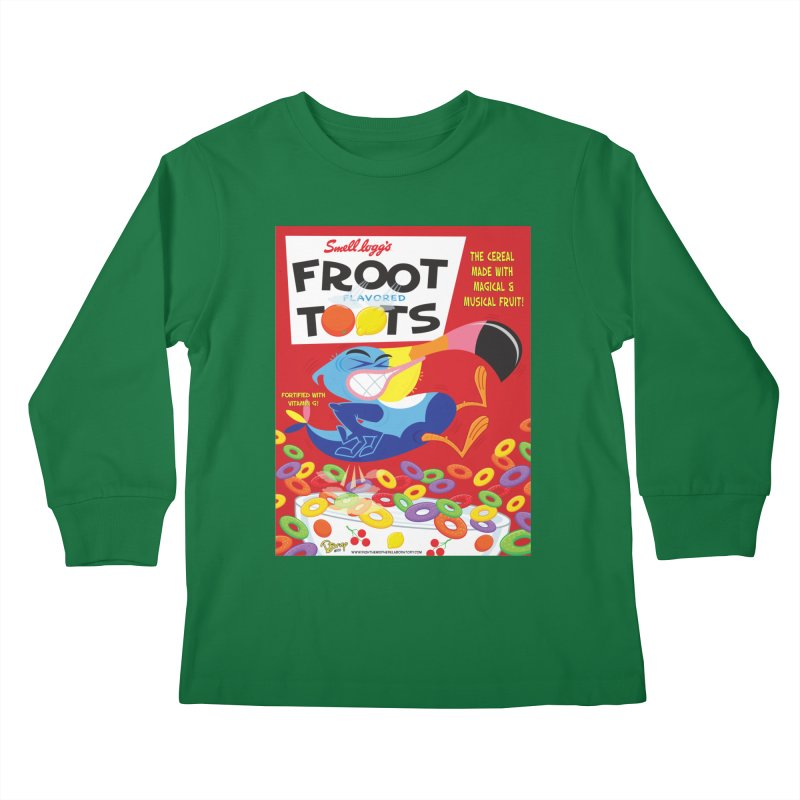 Froot Toots Kids Longsleeve T-Shirt by righthemispherelaboratory's Shop