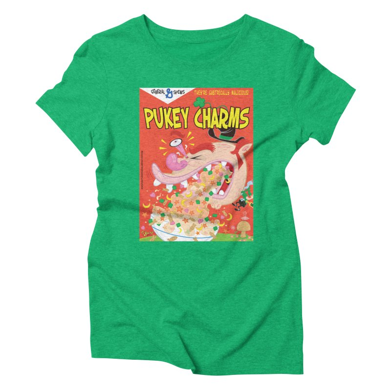 Pukey Charms Women's Triblend T-Shirt by righthemispherelaboratory's Shop