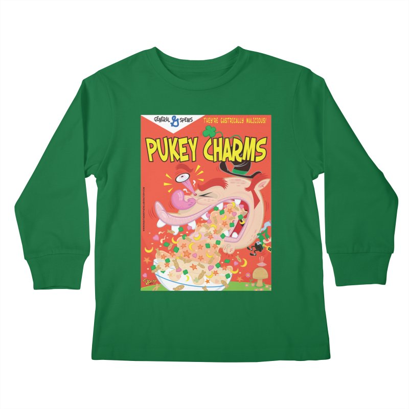 Pukey Charms Kids Longsleeve T-Shirt by righthemispherelaboratory's Shop