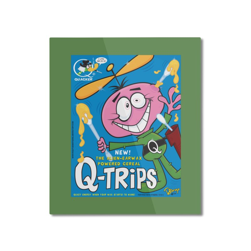 Q-Trips Cereal Home Mounted Aluminum Print by righthemispherelaboratory's Shop