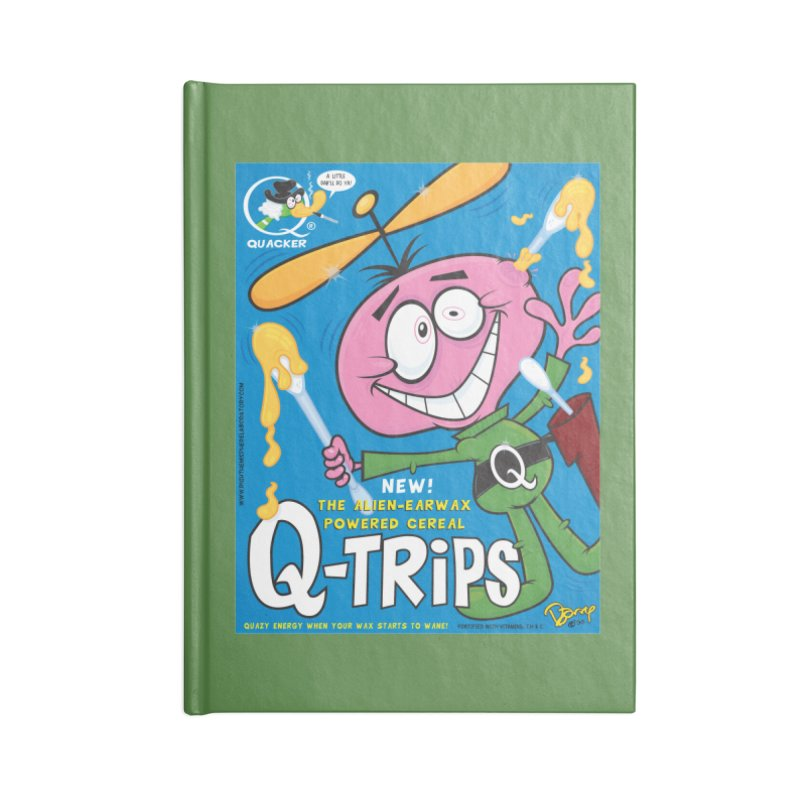 Q-Trips Cereal Accessories Notebook by righthemispherelaboratory's Shop