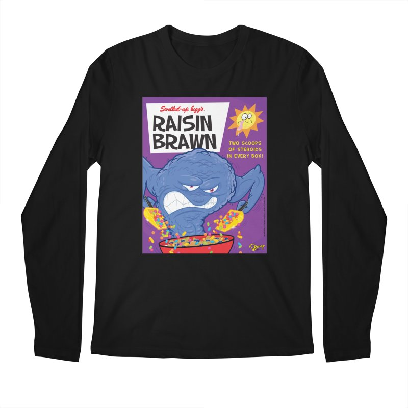 Raisin Brawn Men's Regular Longsleeve T-Shirt by righthemispherelaboratory's Shop