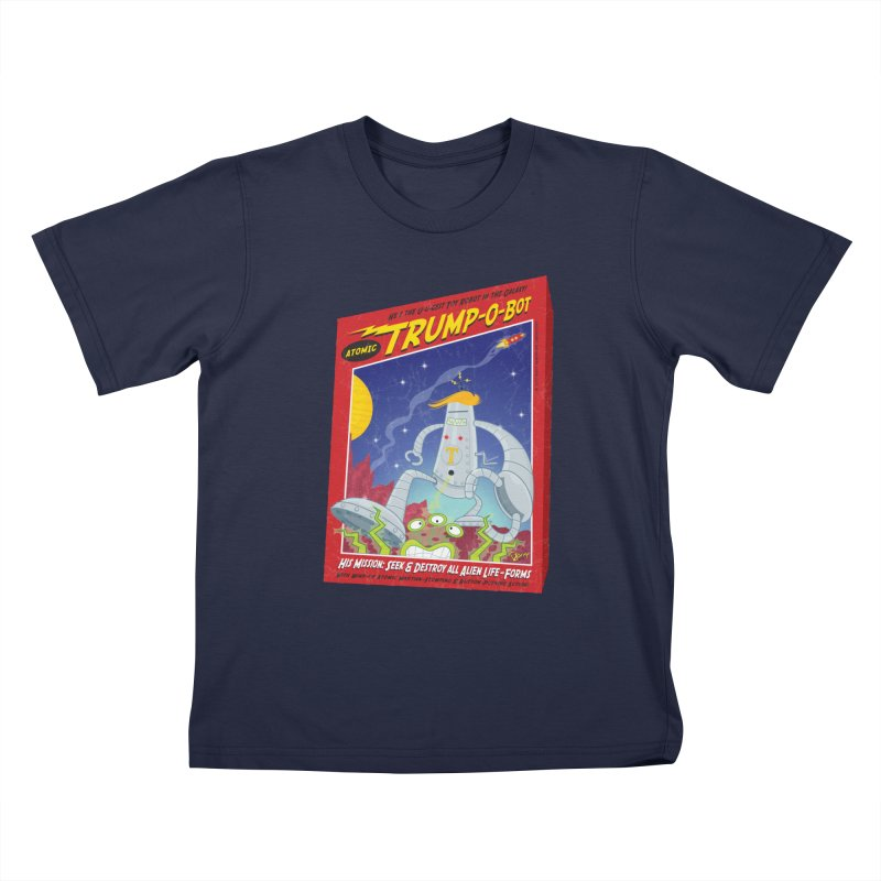 Trump-O-Bot Kids T-Shirt by righthemispherelaboratory's Shop